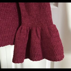 Knox Rose Sweaters - Knox Rose Wine Super Soft Sweater Bell Sleeves